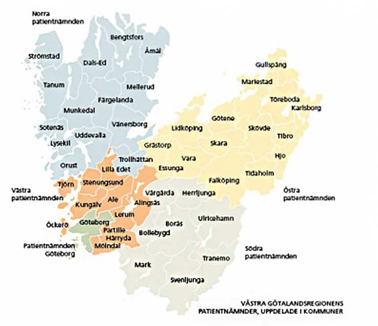 Karta Alingsas Boras.Patientnamnderna Karta Vastra Gotalandsregionen