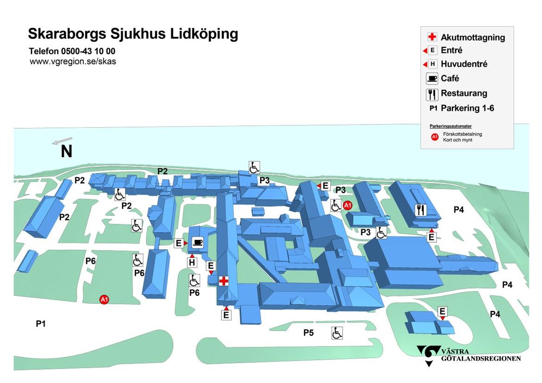 Karta Och Parkering Skaraborgs Sjukhus