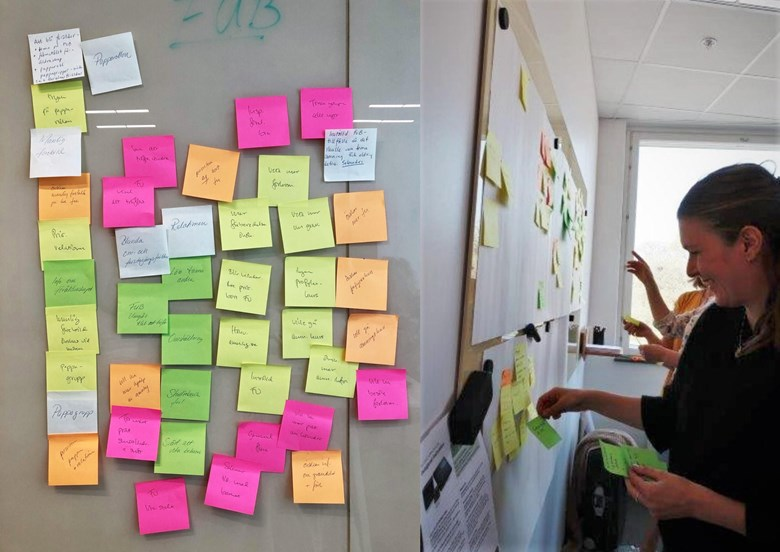 workshop med post it-lappar